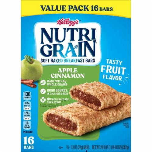 Kellogg's Nutri-Grain Soft Baked Breakfast Bars Apple Cinnamon Value Pack Perspective: top