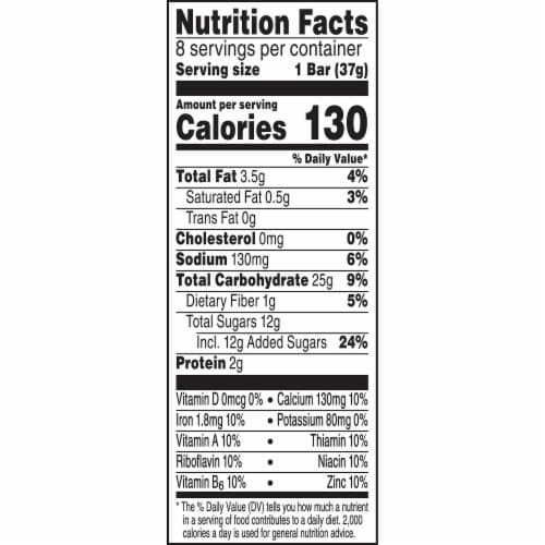 Kellogg's Nutri-Grain Soft Baked Breakfast Bars Mixed Berry Perspective: top