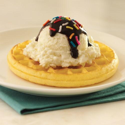 Eggo Frozen Breakfast Waffles Buttermilk Perspective: top