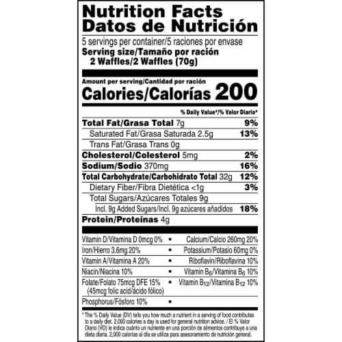 Kellogg's Eggo Chocolatey Chip Frozen Waffles Perspective: top