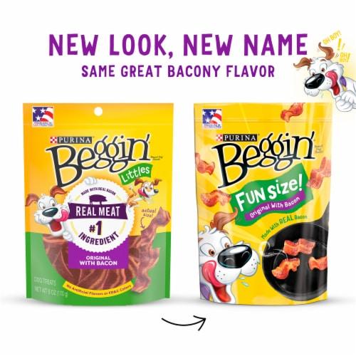 Purina® Beggin'® Strips Fun Size Originals with Bacon Flavor Dog Treats Perspective: top