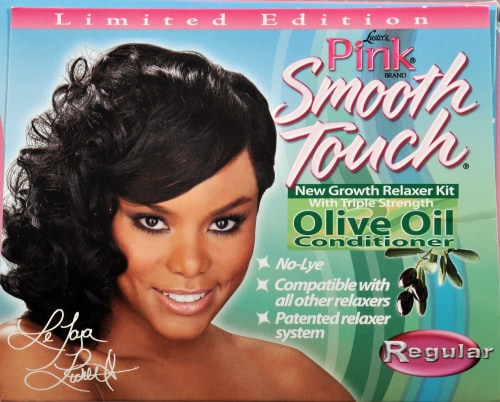 Lusters Pink Smooth Touch Relaxer Perspective: top
