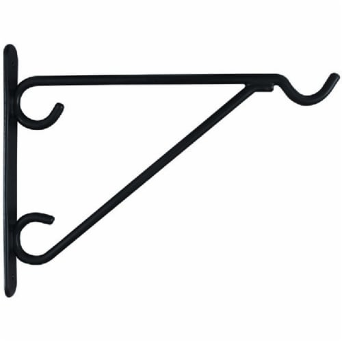National 12 In. Black Vinyl-Coated Steel Plant Hanger Bracket N274647 Perspective: top