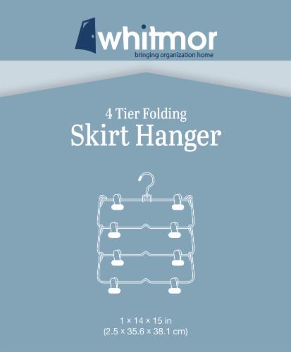 Whitmor 4 Tier Folding Skirt Hanger - Ebony Chrome Perspective: top