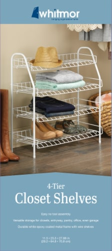 Whitmor 4-Tier Closet Shelves - White Perspective: top