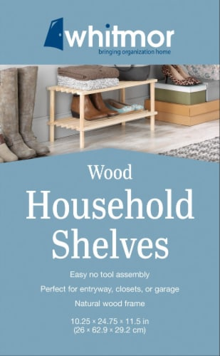 Whitmor Wood Household Shelves - Natural Perspective: top