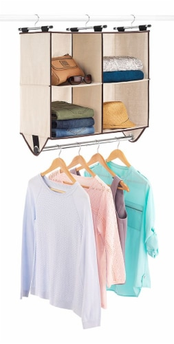 Whitmor 4-Section Canvas Closet Organizer - Beige Perspective: top