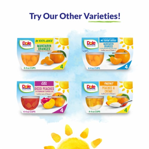 Dole® Diced Pears in 100% Fruit Juice Cups Perspective: top