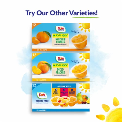 Dole® Peaches in Strawberry Flavored Gel Perspective: top
