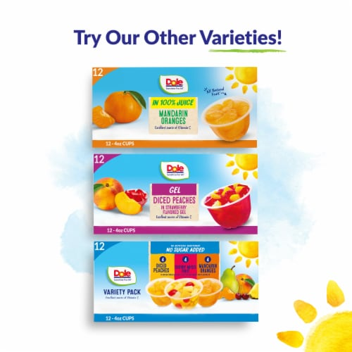 Dole® Cherry Mixed Fruit in 100% Fruit Juice Cups Perspective: top