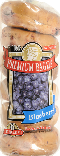 Bubba's Sliced Blueberry Bagels Perspective: top