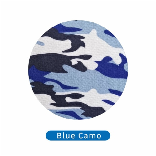 Grand Fusion Child Protective Face Mask & Filter 1 Pack Blue Camo Perspective: top