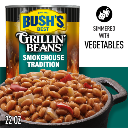 Bush's Best® Grillin' Beans Smokehouse Tradition Beans Perspective: top