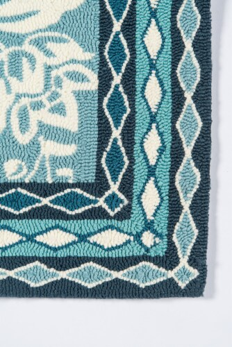 Madcap Cottage Under A Loggia UND-2 Blue Rokeby Road 5' X 8' Rug Perspective: top