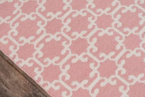 "Madcap Cottage Palm Beach PAM-2 Pink Via Mizner 5' X 7'6"" Rug Perspective: top"