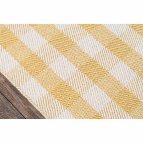 """Madcap Cottage Highland Fling HGH-1 Gold A Scotch Please 3'6"""" X 5'6"""" Rug Perspective: top"""