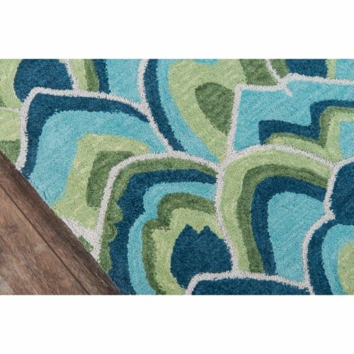 Madcap Cottage Embrace Adventure EMB-1 Green Cloud Club 2' X 3' Rug Perspective: top