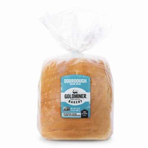 California Goldminer Sourdough Square Bread Perspective: top