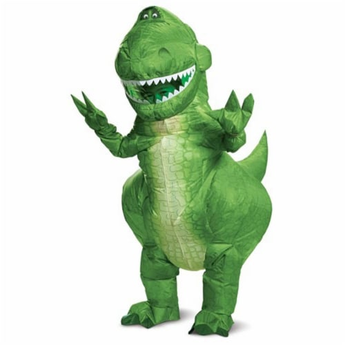 Toy Story 4 Rex Inflatable Child Costume Green, Child One Size Perspective: top