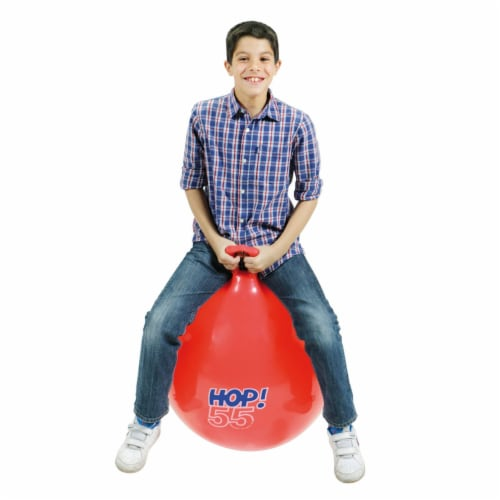 """Gymnic Hop 55 Ball Red 22"""" diameter Perspective: top"""