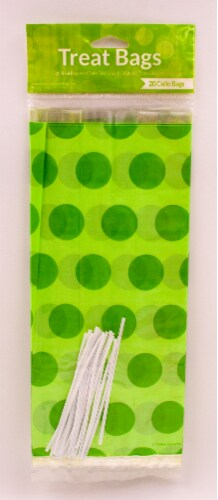 James Paul Products Candy Loot Bags - Fresh Lime Dots Perspective: top