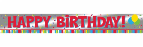 Creative Converting Happy Birthday Foil Banner Perspective: top