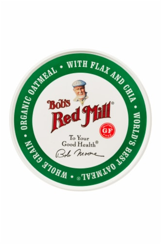 Bob's Red Mill Organic Oatmeal Cup Perspective: top