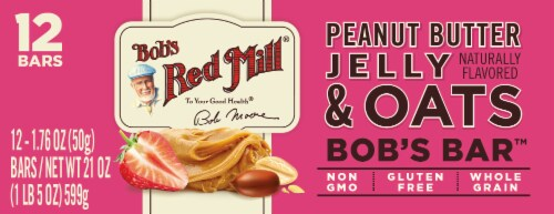 Bob's Red Mill Bob's Better Bar Peanut Butter Jelly and Oats Bars 12 Count Perspective: top