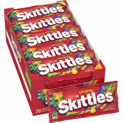 Skittles Original Fruity Candy Perspective: top