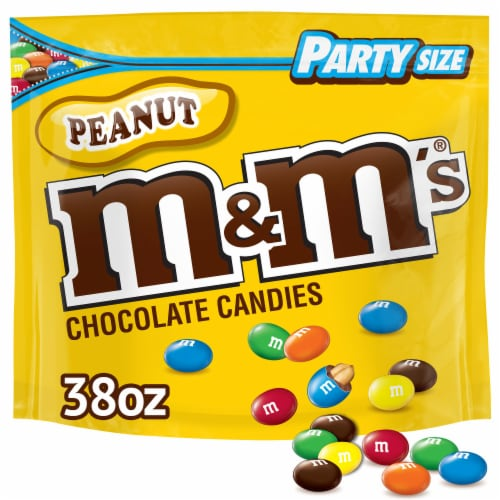 M&M's Peanut Milk Chocolate Candy Party Size Perspective: top