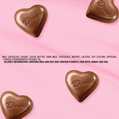 Dove Milk Chocolate Truffle Hearts Tin Perspective: top
