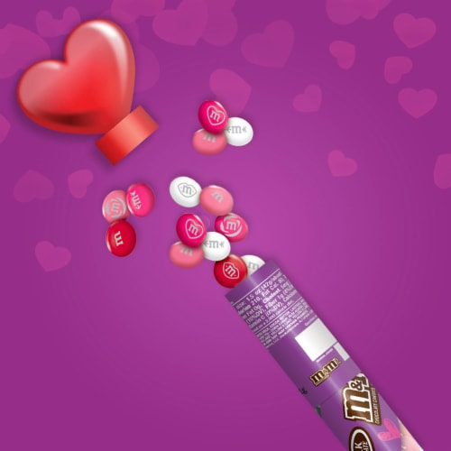 M&M'S Milk Chocolate Valentine Candy Heart Candy Cane Perspective: top