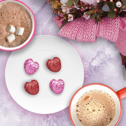 DOVE PROMISES Milk Chocolate & Dark Chocolate Assorted Valentine Candy Hearts Perspective: top