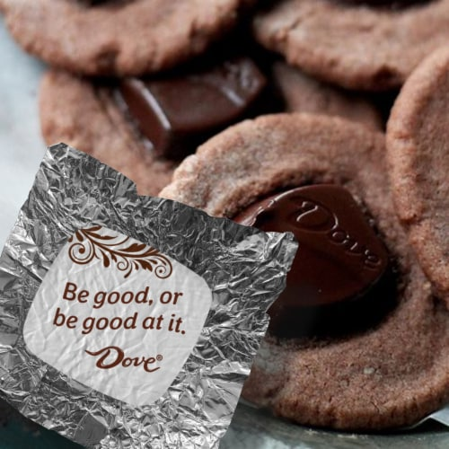 DOVE PROMISES Dark Chocolate Candy Bag Perspective: top