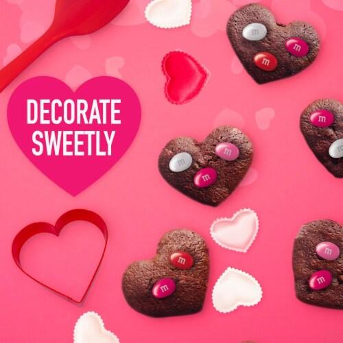 M&M'S Milk Chocolate Peanut Valentine Candy Bag Perspective: top