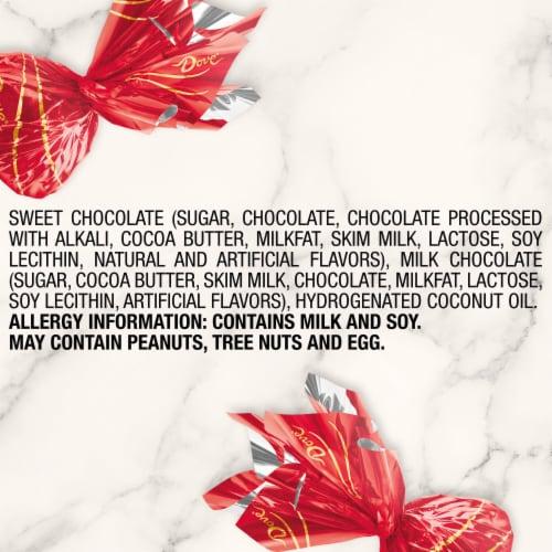 DOVE Valentines Day Dark Chocolate Truffles Valentine Candy Tin Tube Perspective: top
