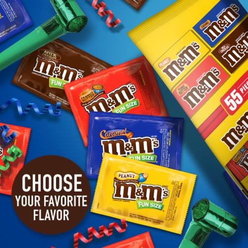 M&M's Lovers Mixed Fun Sized Stand Chocolate Candies Perspective: top