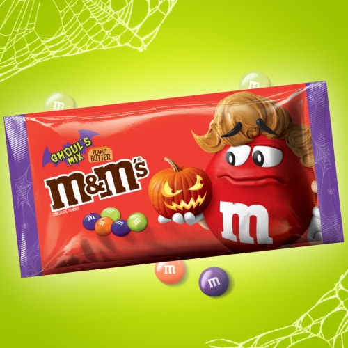 M&M's® Ghoul's Mix Peanut Butter Chocolate Halloween Candy Perspective: top