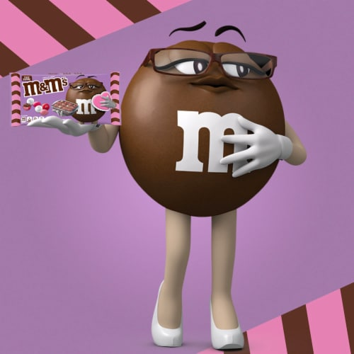 M&M'S Fudge Brownie Chocolate Valentine Candy Bag Perspective: top