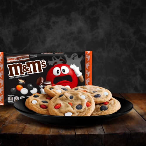 M&M's® Cookies & Screeem Chocolate & White Chocolate Halloween Candy Perspective: top