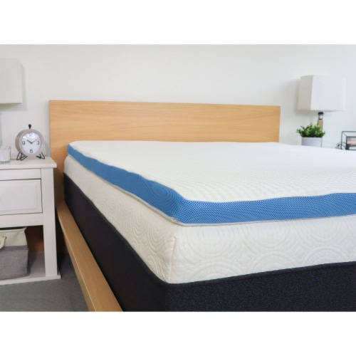 I Love Pillow Out Cold Gel Infused Memory Foam Copper Mattress Cover, Queen Perspective: top