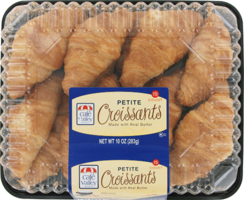 Cafe Valley Petite Croissants 15 Count Perspective: top