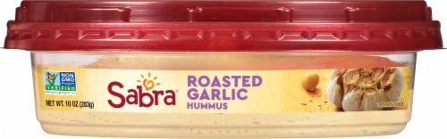 Sabra Roasted Garlic Hummus Perspective: top