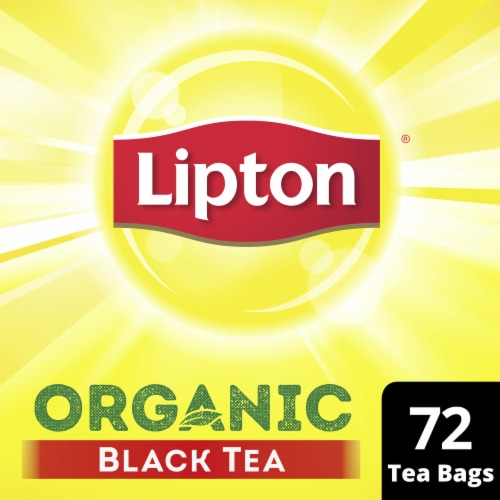 Lipton Organic Black Tea Bags 72 Count Perspective: top
