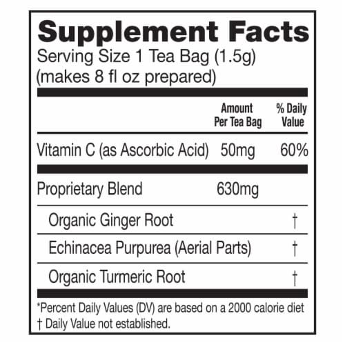 Lipton Daily Immune Support Turmeric Echinacea and Ginger Green Tea Bags Perspective: top