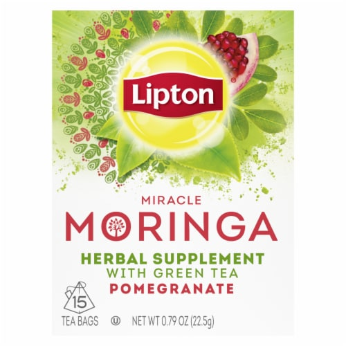 Lipton® Miracle Moringa Pomegranate Green Tea Bags Perspective: top