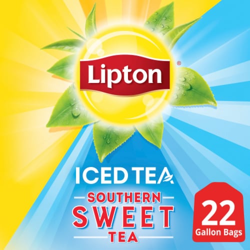 Lipton Southern Sweet Iced Tea Bags Perspective: top