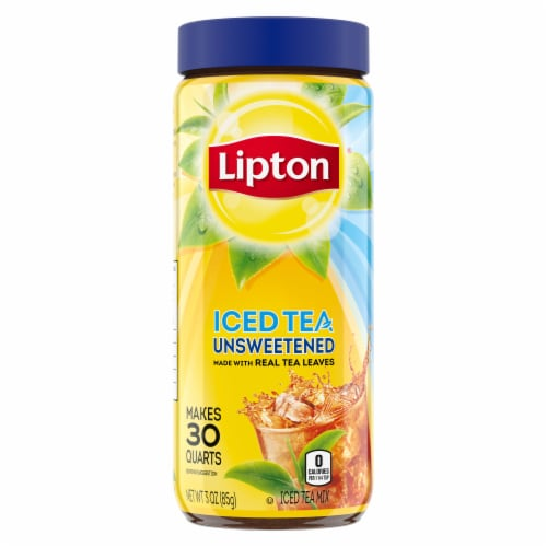 Lipton Unsweetened Iced Tea Mix Perspective: top