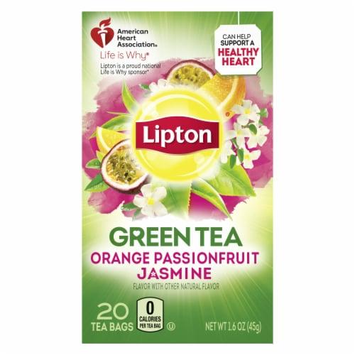 Lipton Orange Passionfruit Jasmine Green Tea Bags Perspective: top