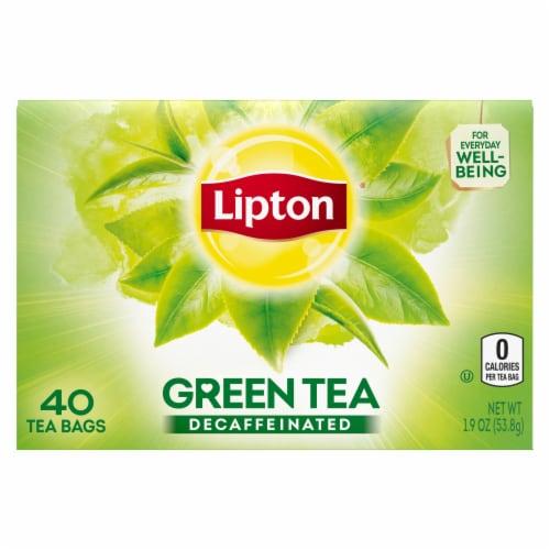 Lipton Decaffeinated Green Tea Bags 40 Count Perspective: top